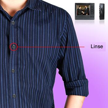 Knapp med HD kamera – til jakke eller skjorte