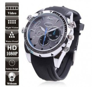 Armbåndsur med HD kamera – vanntett