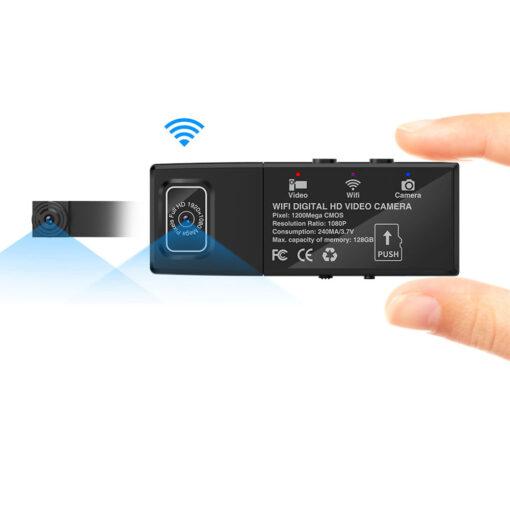 Mini WiFi 1080P tråløst sikkerhets kamera – med bevegelsedetektor