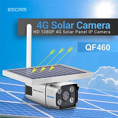 Kamera med 4G, 10400mAh batteri og solcelle.
