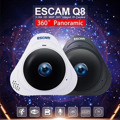 Q8 1.3MP 360 ponorama IP kamera med IR
